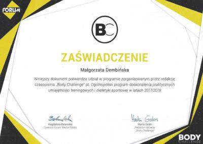 certyfikat body challenge